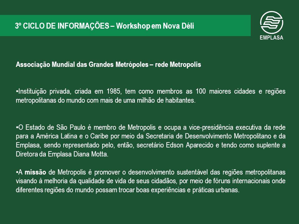3º CICLO DE INFORMAÇÕES – Workshop em Nova Déli
