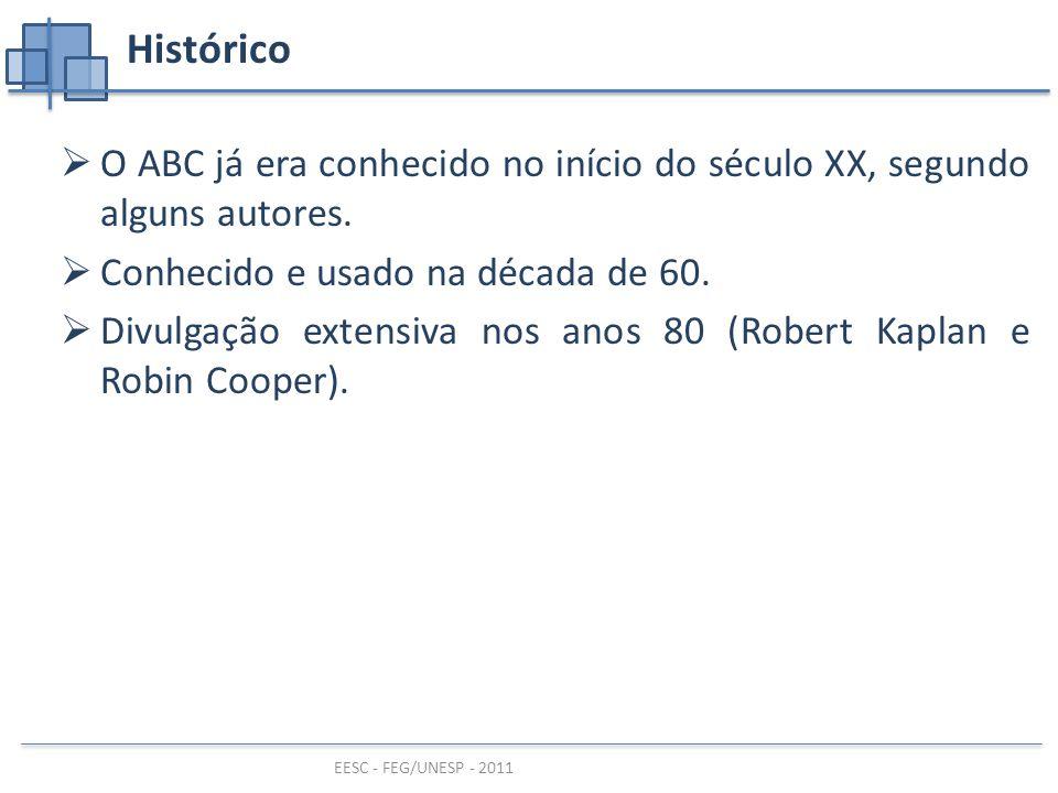 EESC - FEG/UNESP - 2011 Histórico  O ABC já era conhecido no início do século XX, segundo alguns autores.