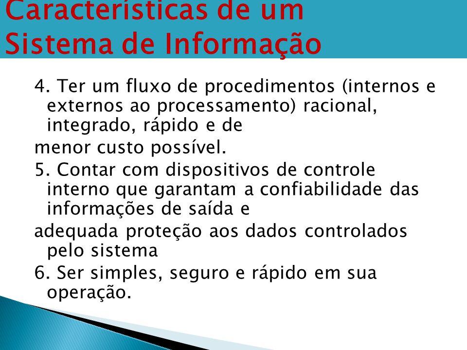 4. Ter um fluxo de procedimentos (internos e externos ao processamento) racional, integrado, rápido e de menor custo possível. 5. Contar com dispositi
