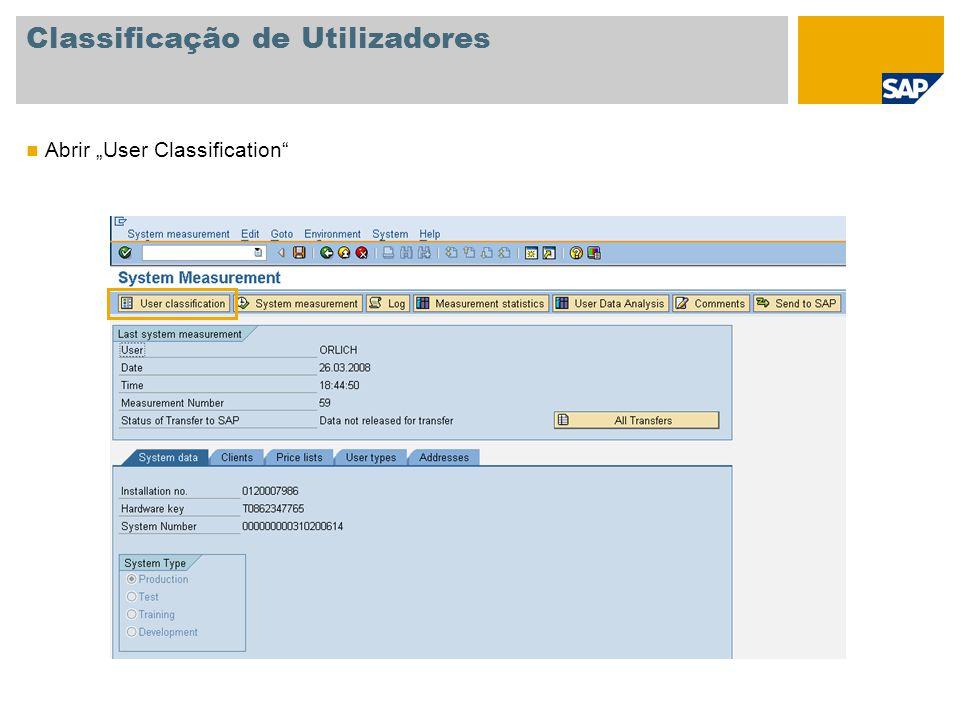 """Classificação de Utilizadores Abrir """"User Classification"""""""
