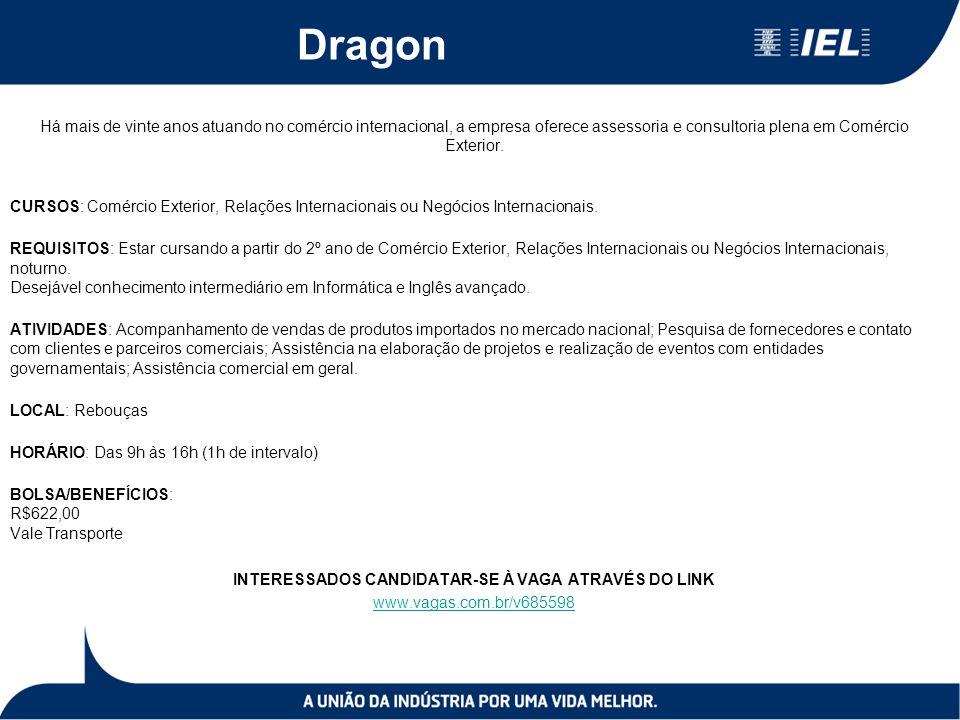 Dragon Há mais de vinte anos atuando no comércio internacional, a empresa oferece assessoria e consultoria plena em Comércio Exterior.