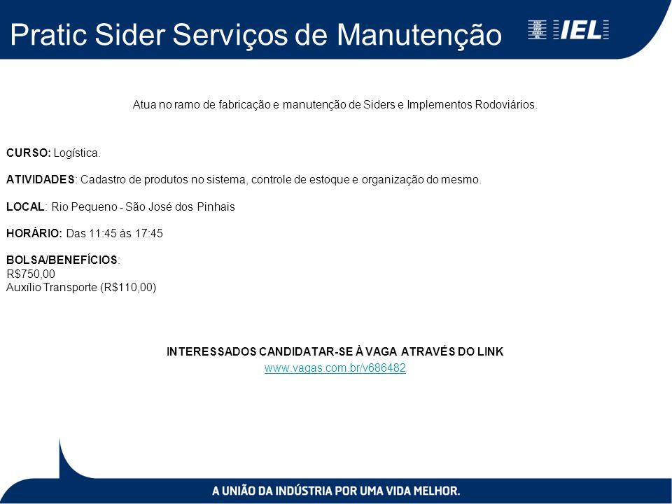 Pratic Sider Serviços de Manutenção Atua no ramo de fabricação e manutenção de Siders e Implementos Rodoviários.