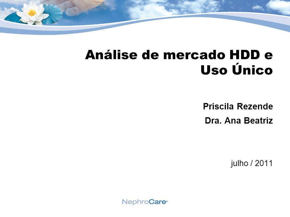 Análise de mercado HDD e Uso Único Priscila Rezende Dra. Ana Beatriz julho / 2011