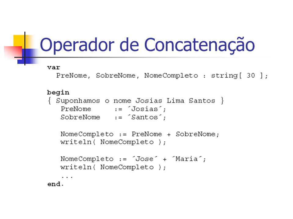 Operador de Concatenação