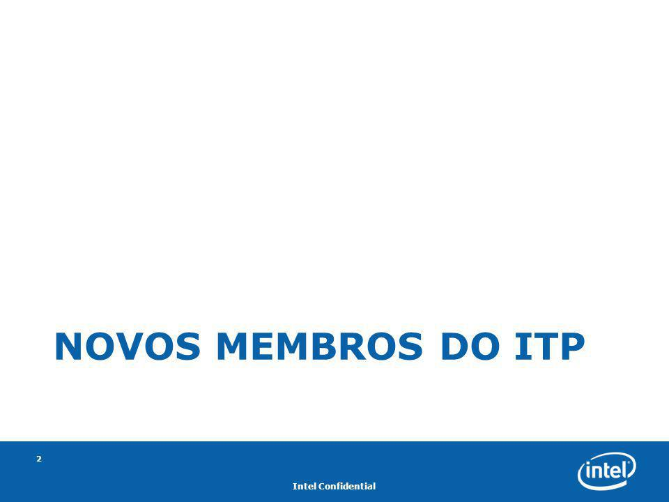 Intel Confidential 2 NOVOS MEMBROS DO ITP