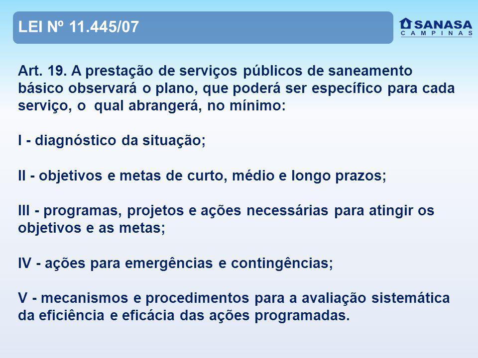 OBJETIVOS DO PROJETO DE LEI DO PMSB I - Plano Municipal de Saneamento Básico; II - Conselho Municipal de Saneamento Básico; III - Estabelecer Indicadores de Desempenho