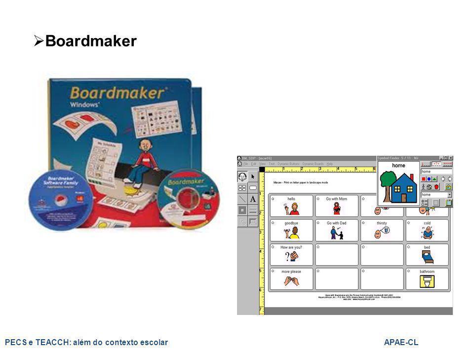  Boardmaker PECS e TEACCH: além do contexto escolarAPAE-CL