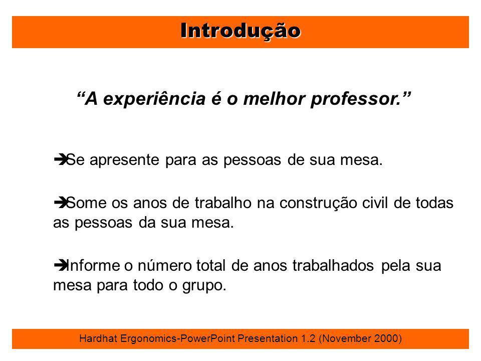 """Introdução """"A experiência é o melhor professor."""" è Se apresente para as pessoas de sua mesa. è Some os anos de trabalho na construção civil de todas a"""