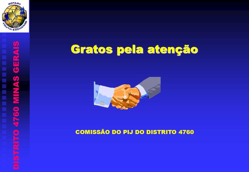 Gratos pela atenção COMISSÃO DO PIJ DO DISTRITO 4760 DISTRITO 4760 MINAS GERAIS