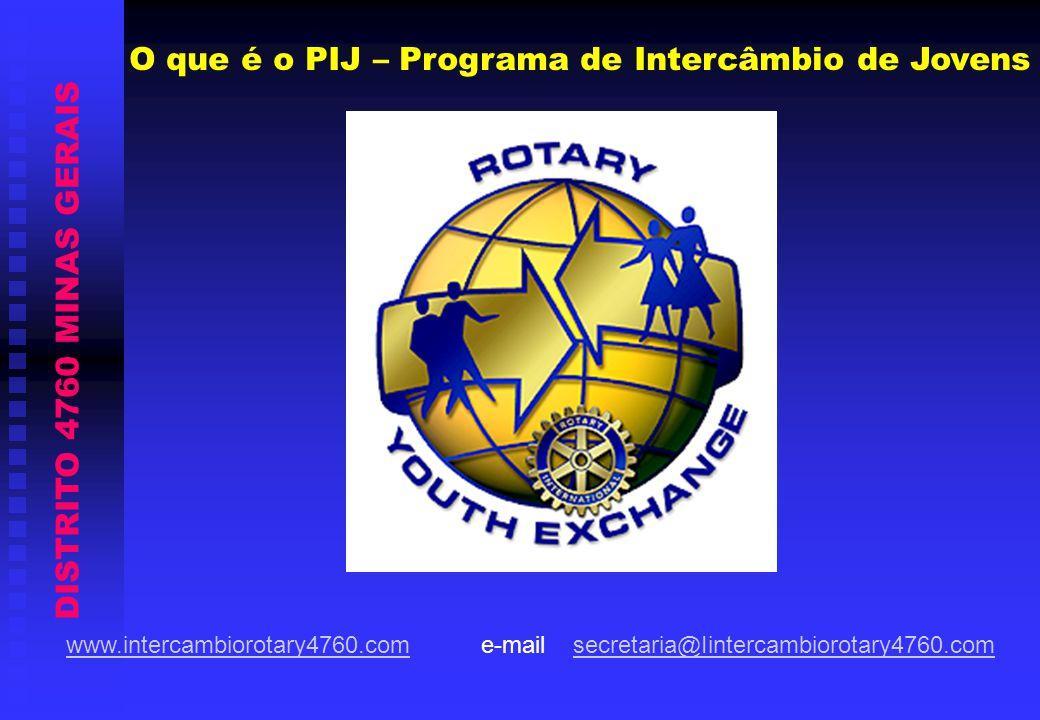 DISTRITO 4760 MINAS GERAIS PIJ - Programa de Intercâmbio de Jovens Distrito 4760