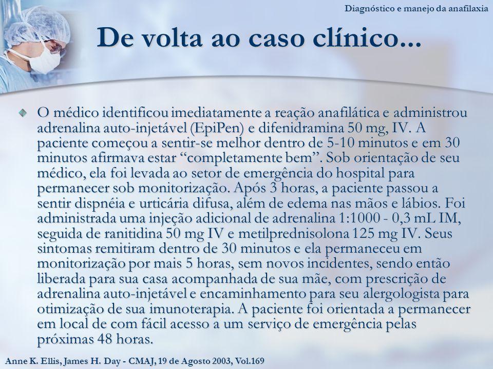De volta ao caso clínico...