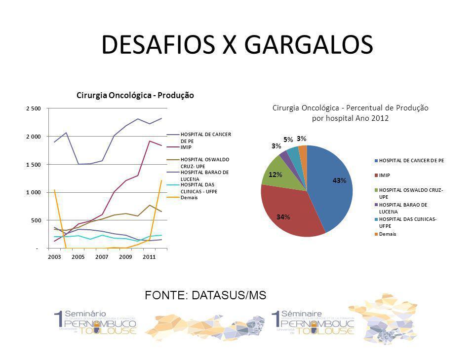 DESAFIOS: RADIOTERAPIA ANO 2012 FORMAÇÃO DE RECURSOS HUMANOS DISTRIBUIIÇÃO E NATUREZA DOS SERVIÇOS INTEGRALIDADE DO CUIDADO FONTE: DATASUS/MS