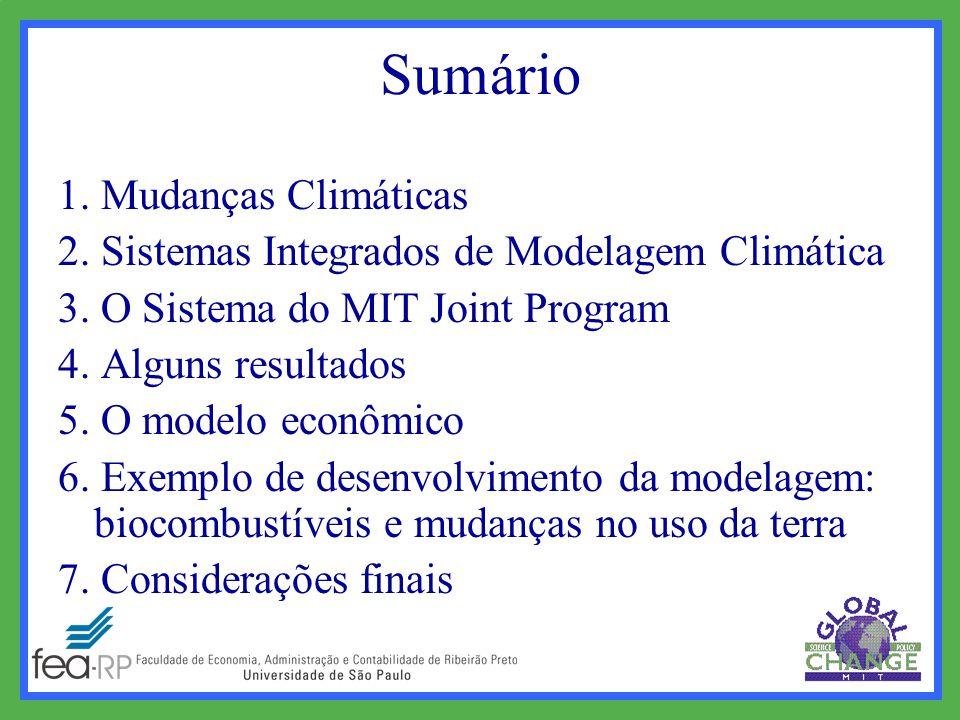 Sumário 1. Mudanças Climáticas 2. Sistemas Integrados de Modelagem Climática 3.