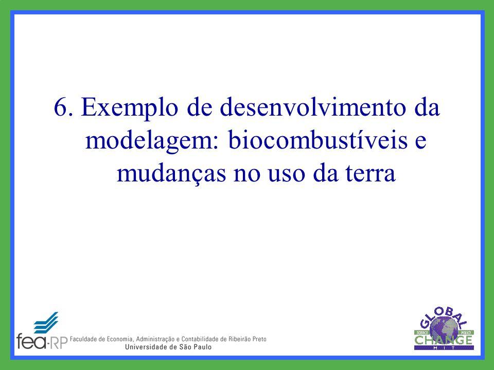 6. Exemplo de desenvolvimento da modelagem: biocombustíveis e mudanças no uso da terra