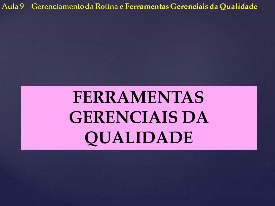 FERRAMENTAS GERENCIAIS DA QUALIDADE Aula 9 – Gerenciamento da Rotina e Ferramentas Gerenciais da Qualidade