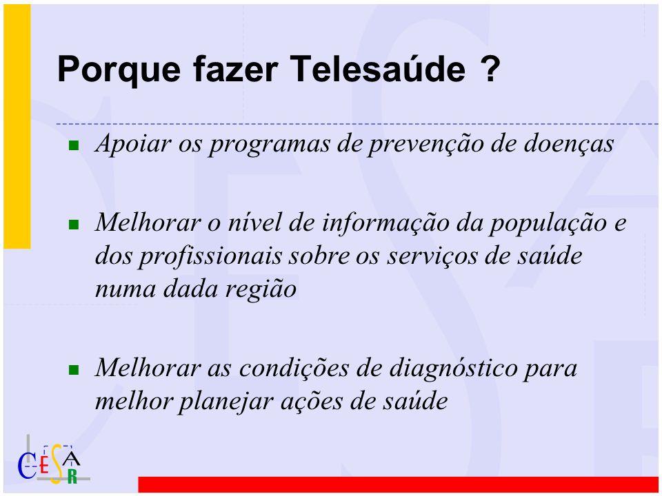 n Apoiar os programas de prevenção de doenças n Melhorar o nível de informação da população e dos profissionais sobre os serviços de saúde numa dada r