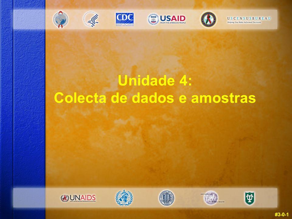 #3-0-1 Unidade 4: Colecta de dados e amostras