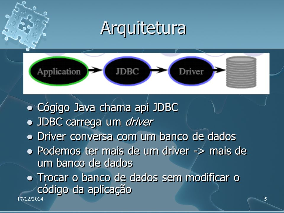 17/12/201436 Aplicação Java (Continuação) public static void main(String args[]) { try { Class.forName(DRIVER_NAME); Connection conexao = DriverManager.getConnection(URL, USER, PASSWD); Statement stmt = conexao.createStatement(); ResultSet rs = stmt.executeQuery( SELECT NOME, TELEFONE FROM CONSUMIDOR ); public static void main(String args[]) { try { Class.forName(DRIVER_NAME); Connection conexao = DriverManager.getConnection(URL, USER, PASSWD); Statement stmt = conexao.createStatement(); ResultSet rs = stmt.executeQuery( SELECT NOME, TELEFONE FROM CONSUMIDOR );
