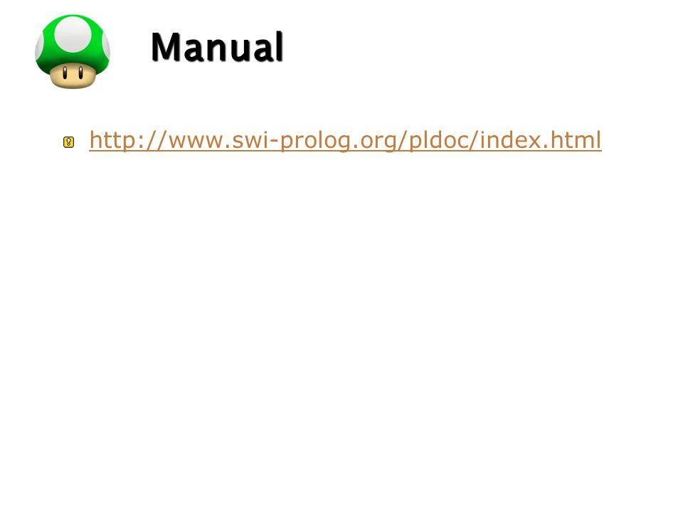 LOGO Manual http://www.swi-prolog.org/pldoc/index.html