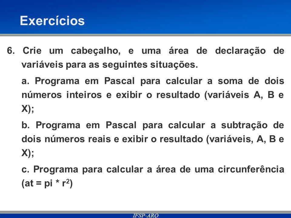 IFSP-ARQ Exercícios 6.