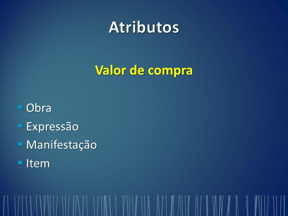 Valor de compra  Obra  Expressão  Manifestação  Item