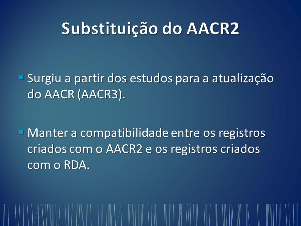  Surgiu a partir dos estudos para a atualização do AACR (AACR3).