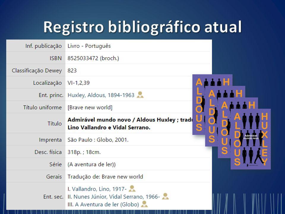  Criação/adaptação dos formatos  Adequação dos sistemas de bibliotecas  Catalogadores e usuários finais  Capacitações  Tradução brasileira  Benefícios [intangíveis?] perceptíveis somente a longo prazo