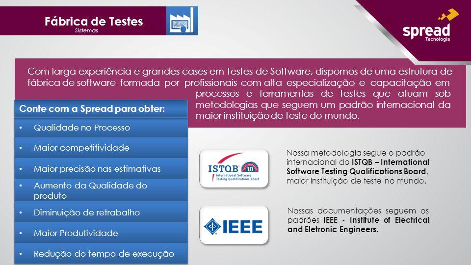 Nossas documentações seguem os padrões IEEE - Institute of Electrical and Eletronic Engineers.
