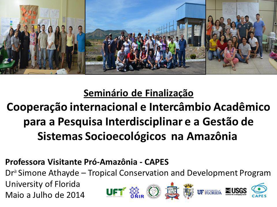 Seminário de Finalização Cooperação internacional e Intercâmbio Acadêmico para a Pesquisa Interdisciplinar e a Gestão de Sistemas Socioecológicos na A