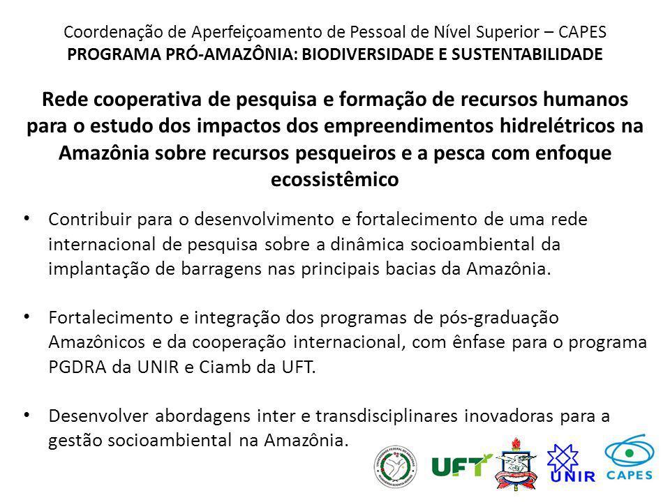 Coordenação de Aperfeiçoamento de Pessoal de Nível Superior – CAPES PROGRAMA PRÓ-AMAZÔNIA: BIODIVERSIDADE E SUSTENTABILIDADE Rede cooperativa de pesqu