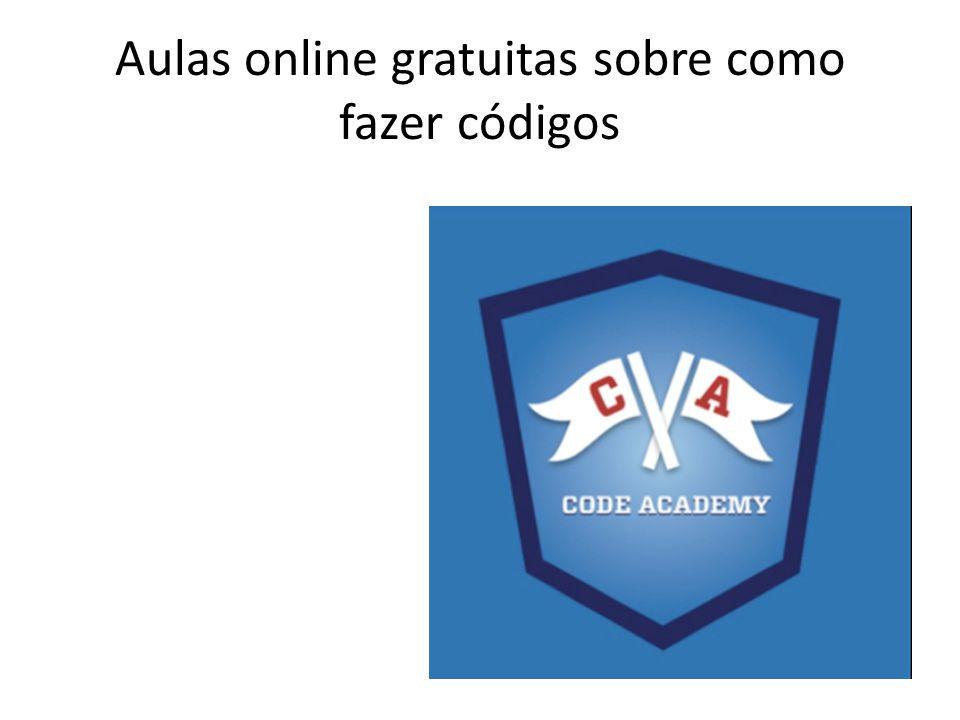 Aulas online gratuitas sobre como fazer códigos
