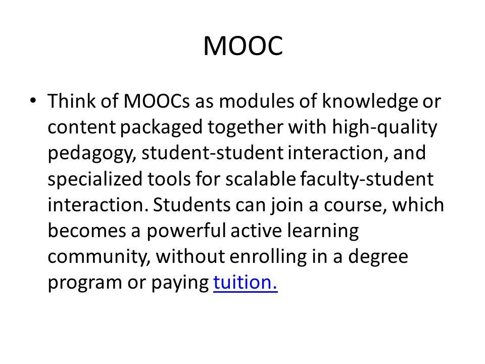Um professor oferece instrução de qualidade para milhões Interação aluno-aluno, aluno-conteúdo