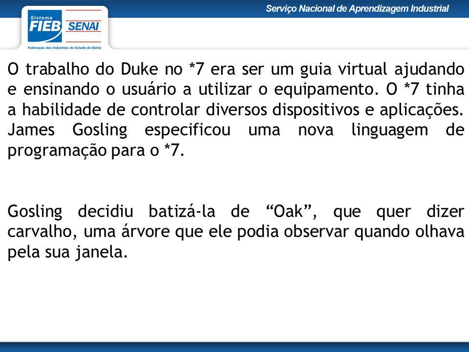 O trabalho do Duke no *7 era ser um guia virtual ajudando e ensinando o usuário a utilizar o equipamento.