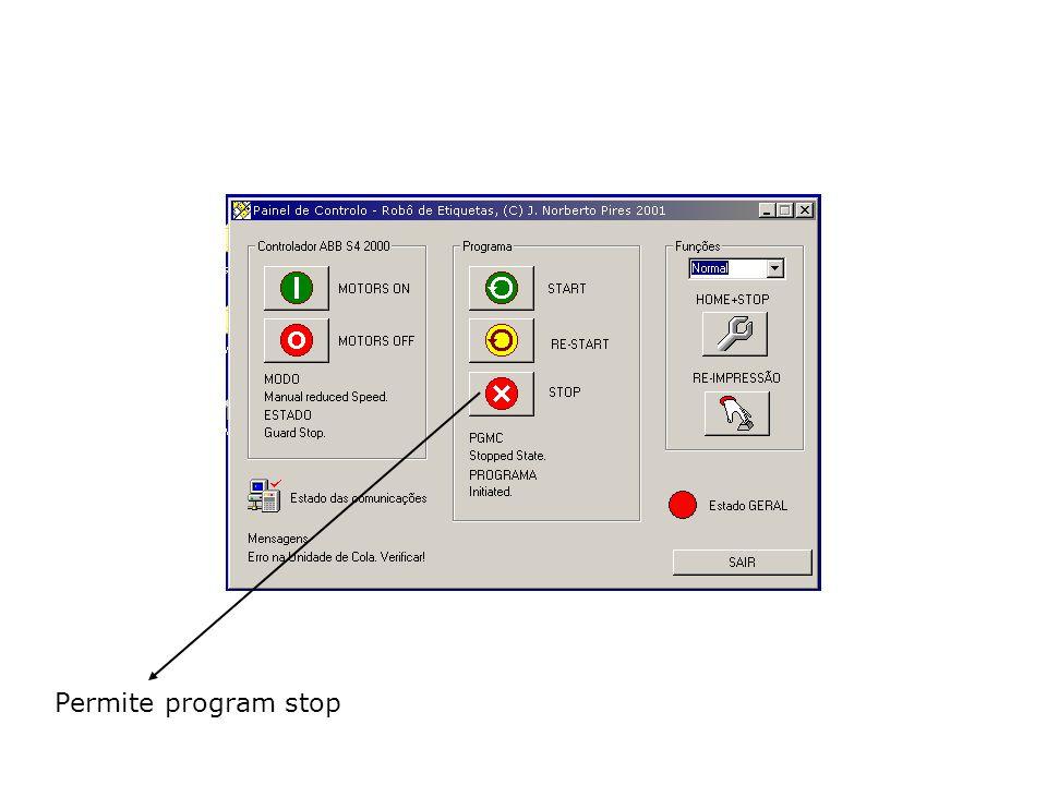 Permite program stop