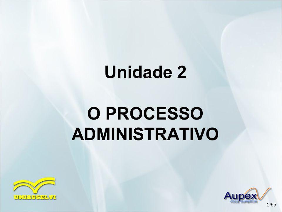 Unidade 2 O PROCESSO ADMINISTRATIVO 2/65
