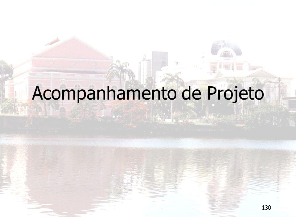 130 Acompanhamento de Projeto