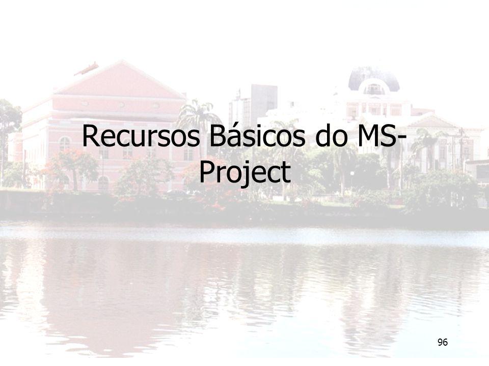 96 Recursos Básicos do MS- Project