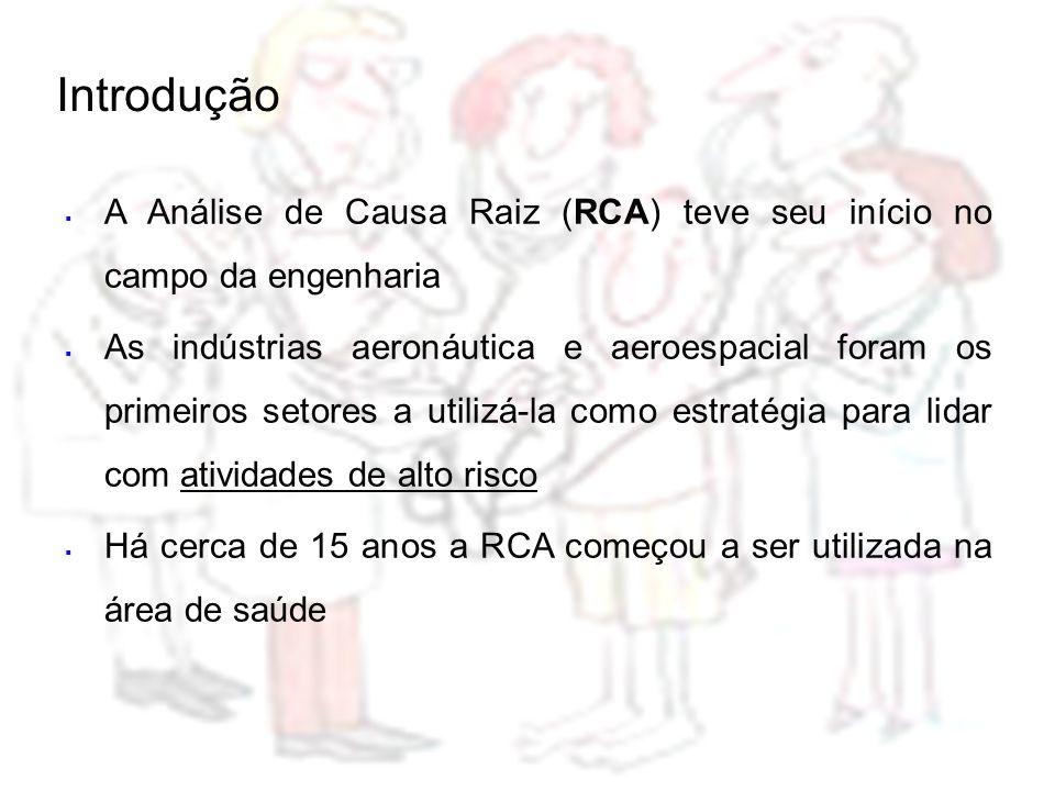  A Análise de Causa Raiz (RCA) teve seu início no campo da engenharia  As indústrias aeronáutica e aeroespacial foram os primeiros setores a utilizá