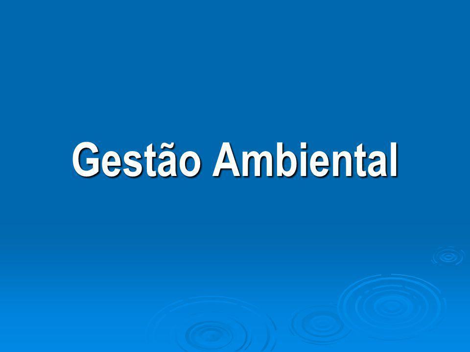 GESTÃO AMBIENTAL  Novo Cenário Mundial Globalização da economia, informações, comunicações e das questões ambientais.