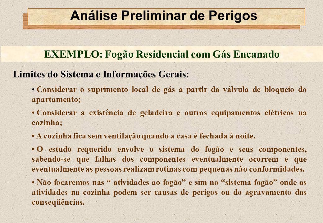 Limites do Sistema e Informações Gerais: Considerar o suprimento local de gás a partir da válvula de bloqueio do apartamento; Considerar a existência