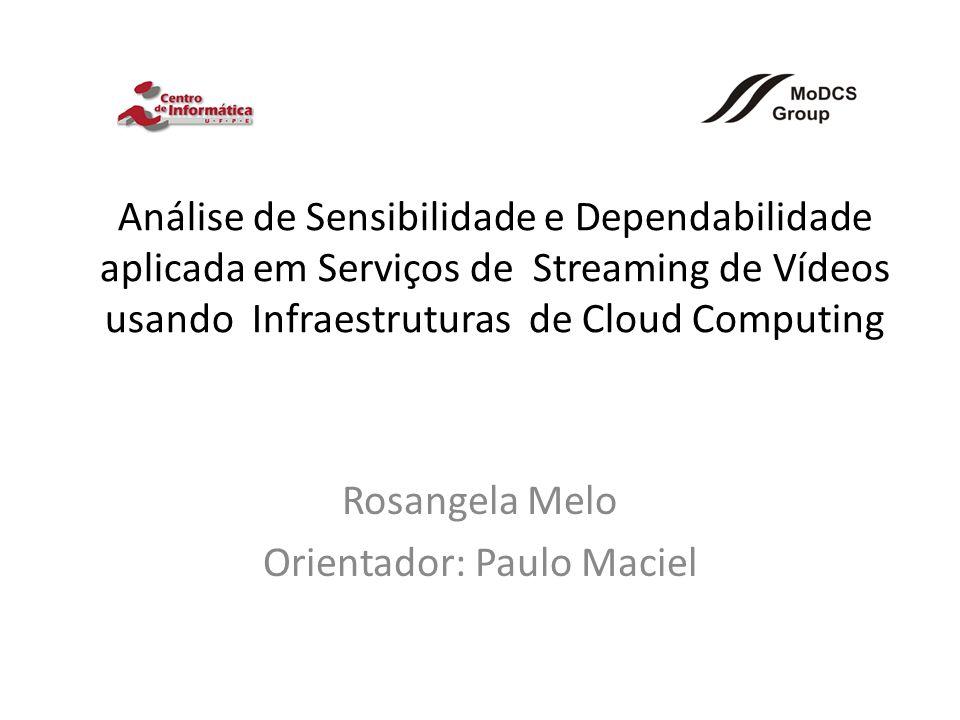 Análise de Sensibilidade e Dependabilidade aplicada em Serviços de Streaming de Vídeos usando Infraestruturas de Cloud Computing Rosangela Melo Orientador: Paulo Maciel