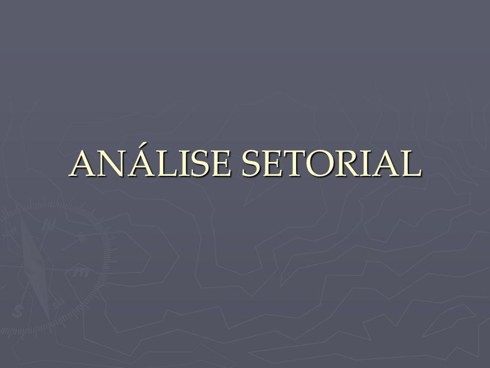 Modelo de Análise Setorial Passo 2: Descrição das Empresas ► Empresas atuantes ► Potenciais entrantes ► Cada empresa estudada individualmente