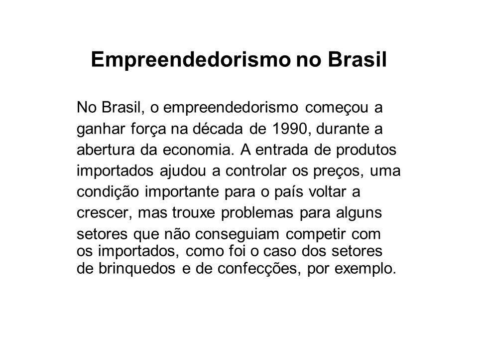 Empreendedorismo no Brasil Para ajustar o passo com o resto do mundo, o país precisou mudar.