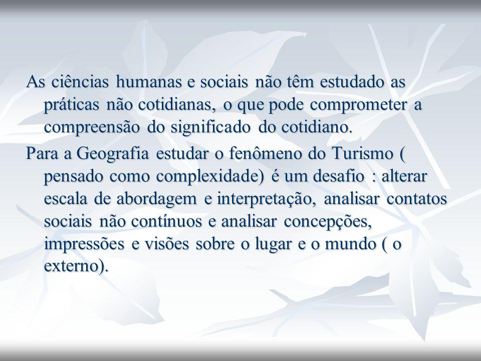 As ciências humanas e sociais não têm estudado as práticas não cotidianas, o que pode comprometer a compreensão do significado do cotidiano.
