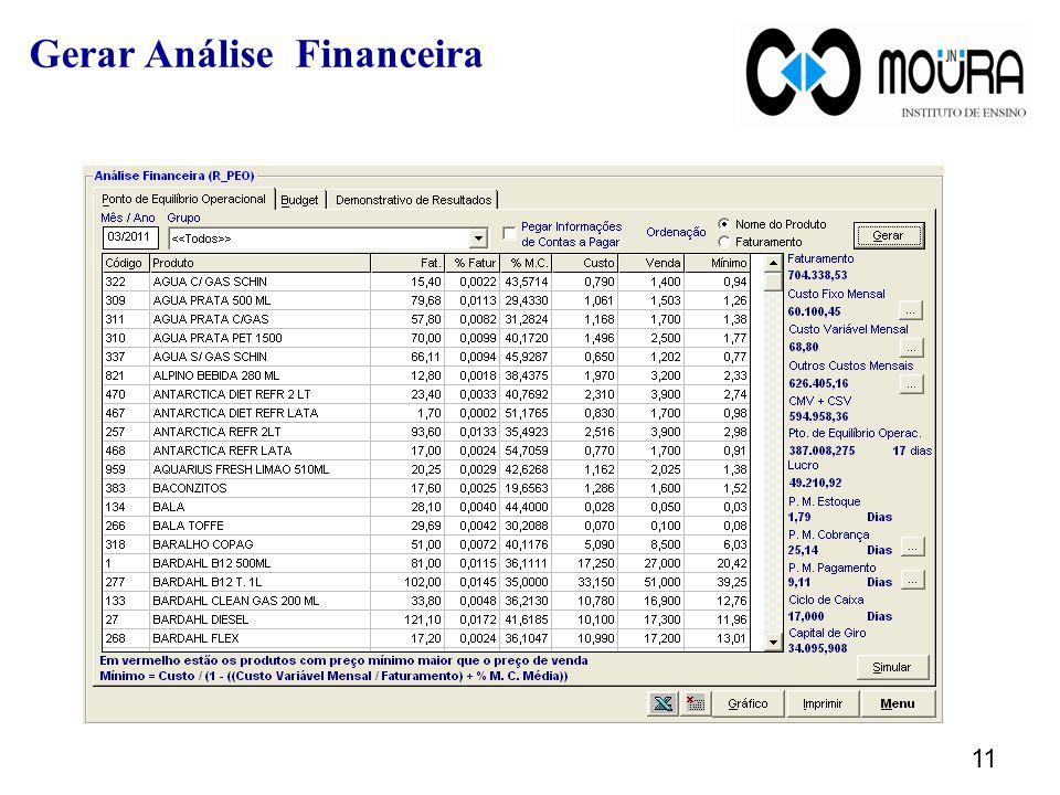 11 Gerar Análise Financeira