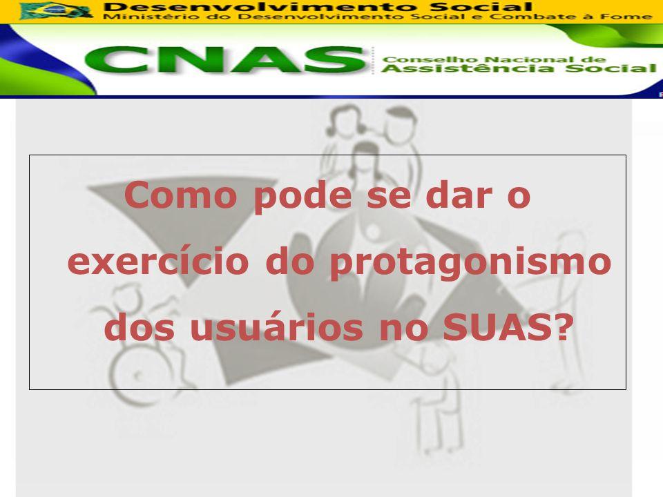 Como pode se dar o exercício do protagonismo dos usuários no SUAS