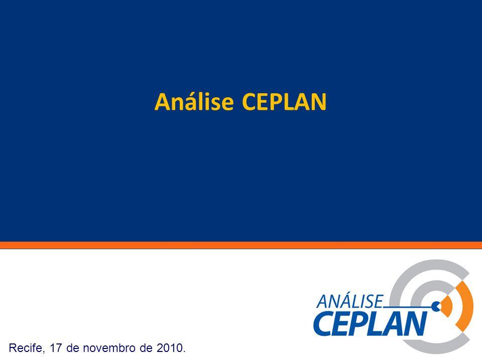 Clique para editar o estilo do título mestre Recife, 17 de novembro de 2010. Análise CEPLAN