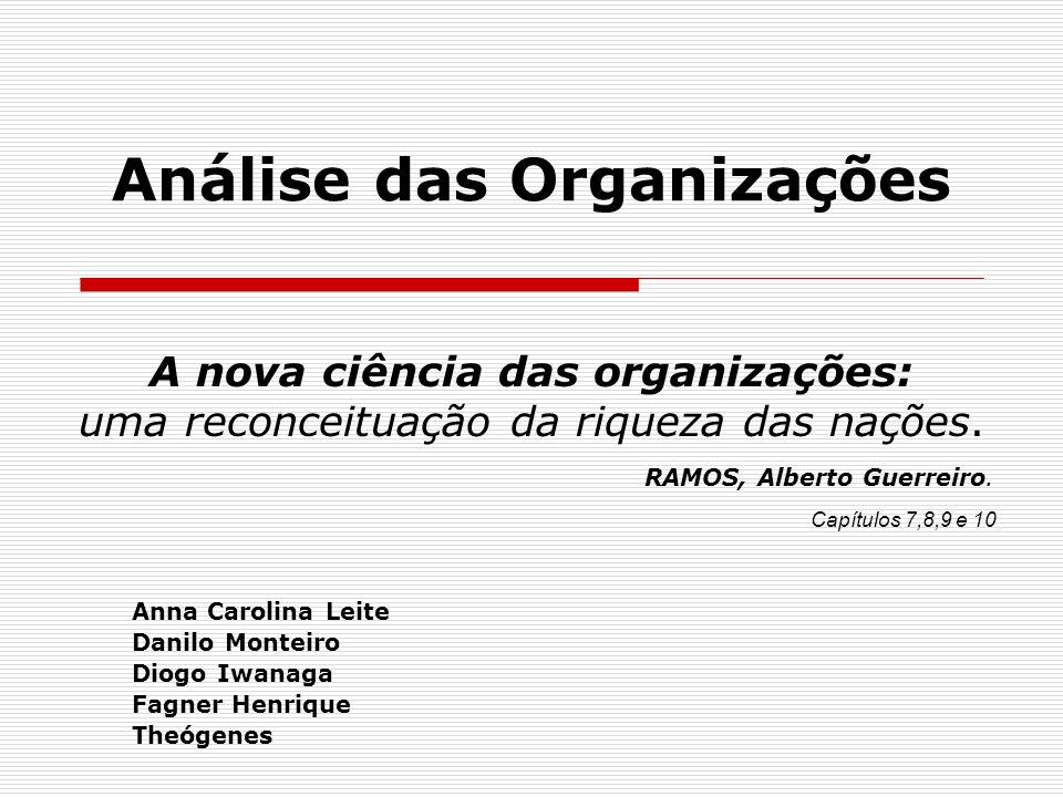 Análise das Organizações Anna Carolina Leite Danilo Monteiro Diogo Iwanaga Fagner Henrique Theógenes A nova ciência das organizações: uma reconceituaç