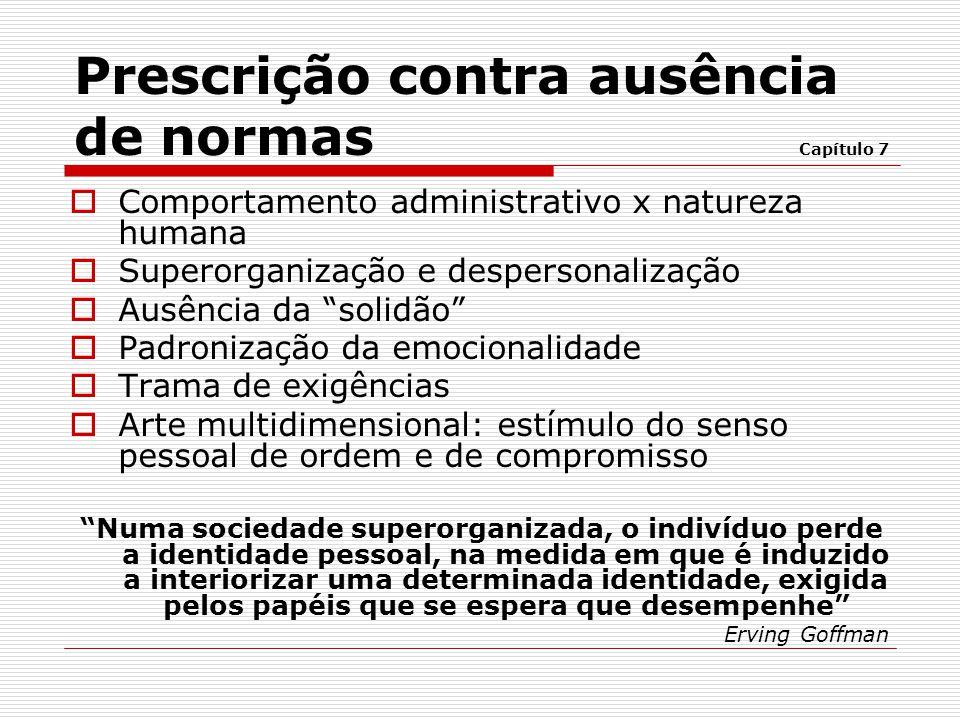  Anomia (Émile Durkheim) -Situação estanque -Incapacidade de criar um ambiente social e obedecer prescrições operacionais importantes -Necessidade de assistência, proteção e controle -Planejamento do ambiente é ineficaz Conceituação das categorias delimitadoras Capítulo 7