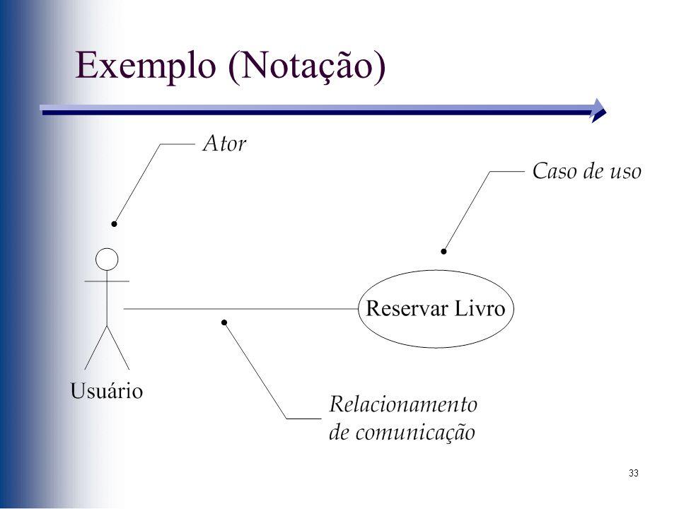33 Exemplo (Notação)